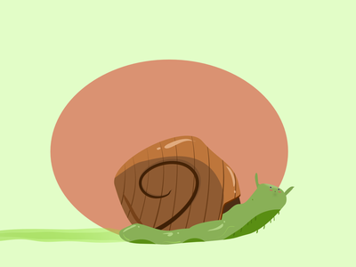 Vectober 31 - Crawl crawl snail vectober inktober2020 illustration design