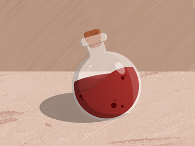 Health Potion healthy health pottion potion game rpg illustration design