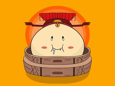 Emperor Bao chinese emperor bao asian illustration design