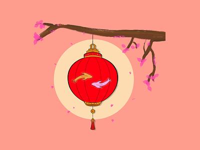 Chinese Lantern lantern festival red lantern illustration design