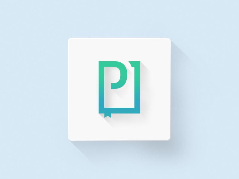 PressPad  branding logo identity flat icon ios7 minimal presspad shadow