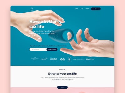 Lovely Landing Page ui ux landingpage iot lovely pink toy sex