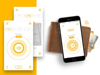 Refined smart wallet app for iOS wallet ui ux yellow mobile ios app woolet
