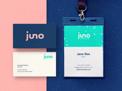 Juno – connecting expecting parents and professionals badge card business branding doula midwive pink baby parents