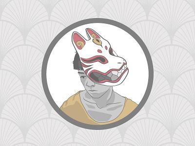 BoyOfJapan fox omen vectors mask boy japan milliondirtyways hello post first debut illustration