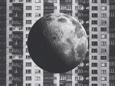 Moon vol.II lithuania vilnius cosmic collage manipulation photo brutalism milliondirtyways moon