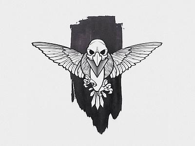 Bird blackandwhite crow bird vectors illustration milliondirtyways