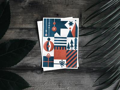 Christmas 2019 christmas flyer print postcard vilnius architecture studio winter dots illustration vector celebration new year christmas