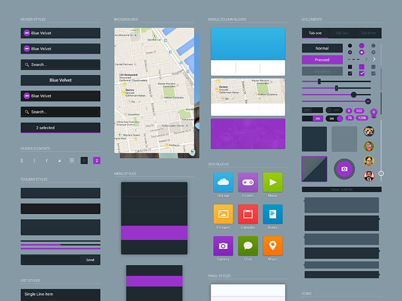 Kit View ui ux template android mobile clean minimal kit ui kit