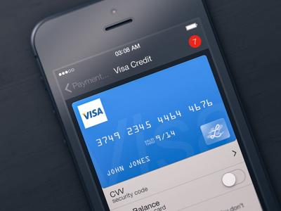 Visa Credit visa credit card card lemon app iphone ios ios 7 blue dark clean