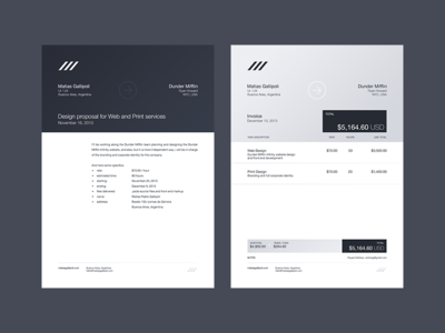 Head letter and invoice take three head letter invoice clean minimal flat blue branding