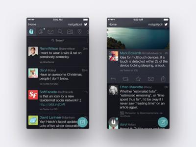 UberSocial ios twitter uber social dark clean