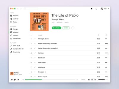 Spotify White app mac music minimal clean white spotify