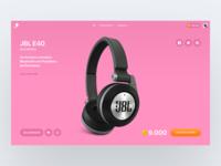 Product page aerolab orange product minimal pink