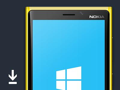 lumia 920 yellow lumia 920 lumia yellow cyan phone template psd nokia windows phone