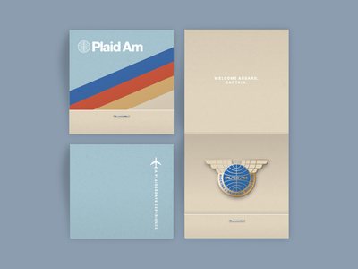 Plaiderdays: Plaid Am pilot pin cheesy mockup fintech plaiderdays hackathon matchbook enamel pan am vintage airline
