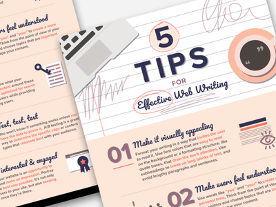 Web Writing Tips Infographic tips writing infographic info infographics graphic design web ui flat flat design site list