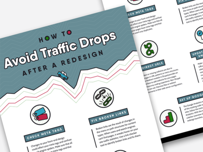 Avoiding Traffic Drops Infographic site redesign list infographics icons info graphic design flat design flat infographic