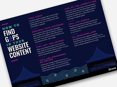 Website Content Gaps Infographic web website site content list infographics icons design graphic design flat design flat infographic