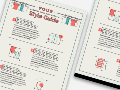 4 Reasons Your Site Needs a Style Guide Infographic info website site web vector list styleguide infographics infographic ui illustration icons flat design design graphic design flat