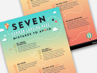7 Commone Landing Page Mistakes to Avoid graphicdesign vector logo icon info illustration list infographics infographic icons flat design ui design graphic design flat