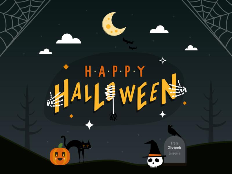 Happy Halloween spooky graphic social media halloween design halloween flyer halloween bash halloween socialmedia social branding vector icon illustration icons flat design ui design graphic design flat