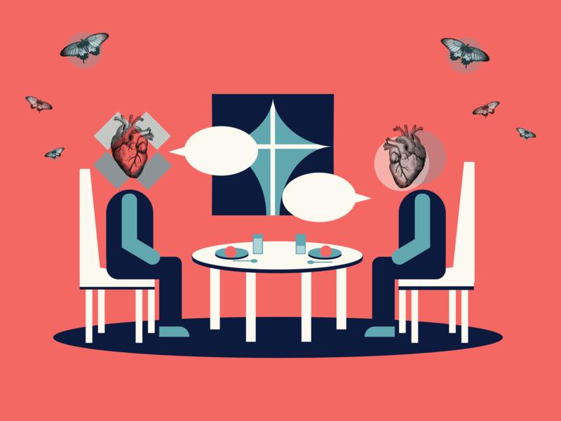 First Date Illustration by Kaci Kwiatek on Dribbble