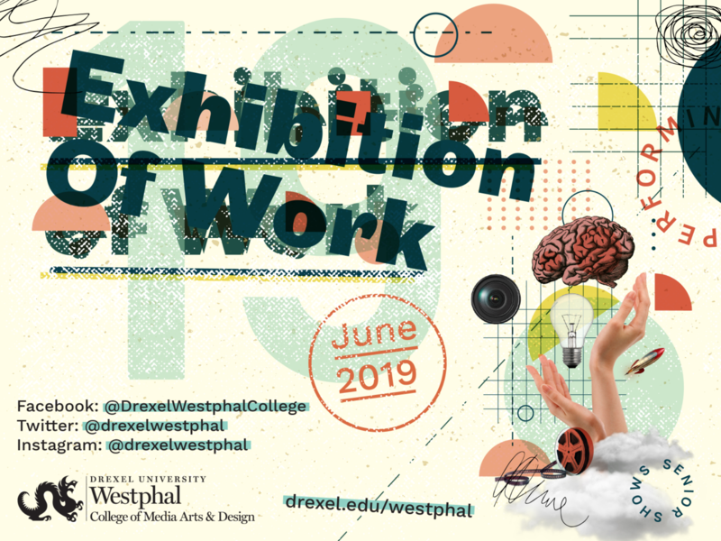 Exhibition of Work graphic design design illustration typography collage art identity branding work exhibition creating creative poster