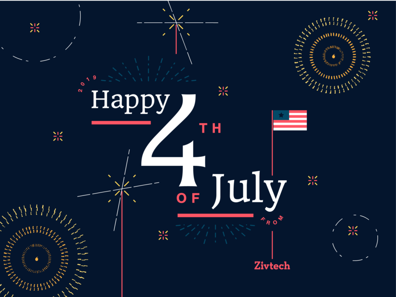 4th of July celebrate flag america patriot philadelphia fireworks typography illustration flat design flat design graphic design 4th of july 4thofjuly 4th july