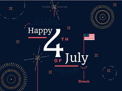 4th of July celebrate flag america patriot philadelphia fireworks typography illustration flat design flat design graphic design 4th of july 4thofjuly 4th july