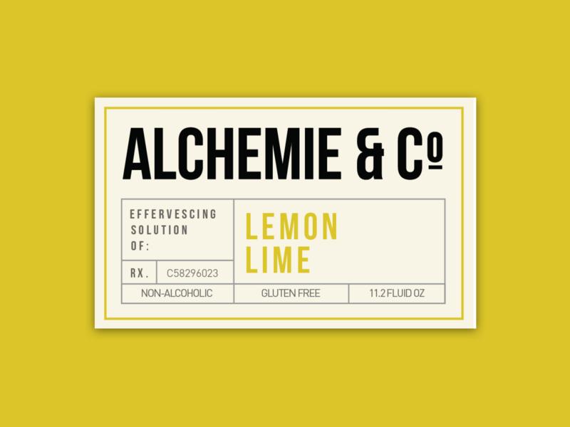 Alchemie Soda Bottle Front Label alchemie soda label beer design labeldesign label design graphic design typography alchohol soda can sticker flat vintage branding vector