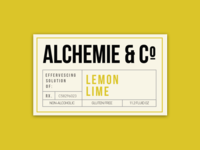 Alchemie Soda Bottle Front Label