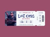 Luke Combs Ticket Stub