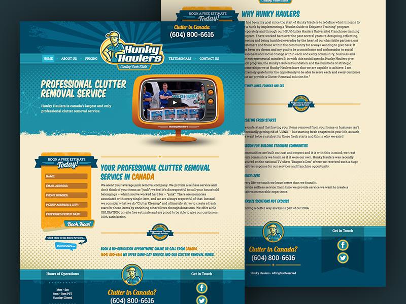 Hunky Haulers Micro Site web