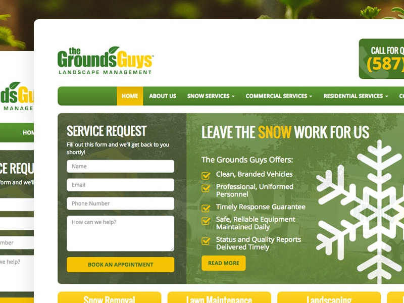 The GroundsGuys Landing Page the groundsguys landing page web design