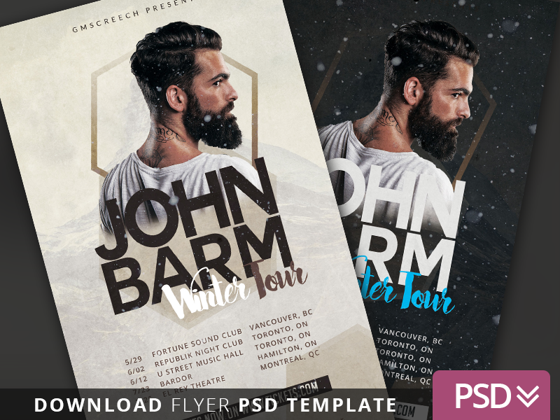 DJ Winter Tour Dates 2 Flyer Template buy graphicriver flyer