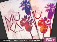Beach Festival Flyer Template