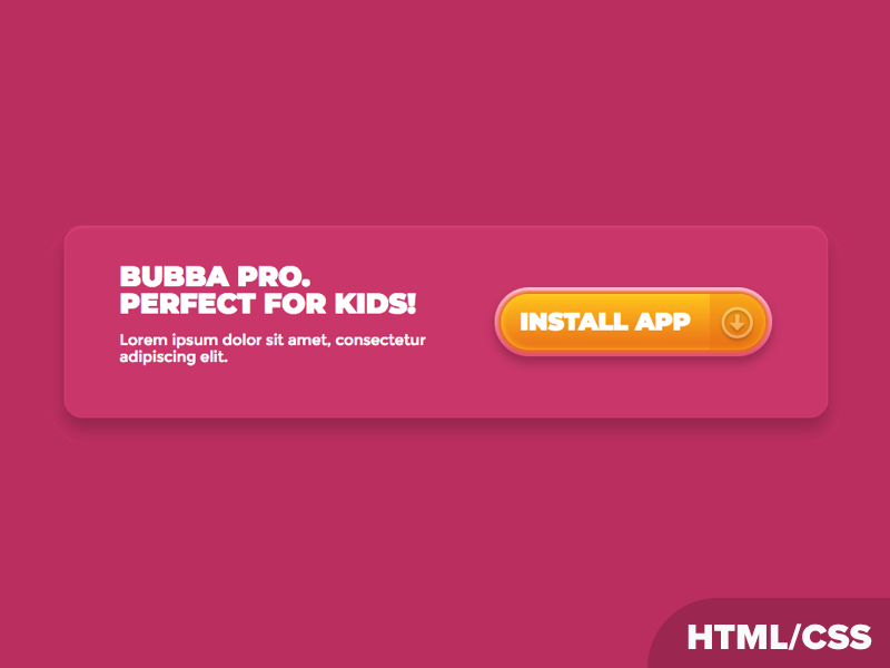 Bubba Pro Element HTML/CSS Experiment experiment css toy html codepen kid creativemints mike