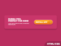 Bubba Pro Element HTML/CSS Experiment