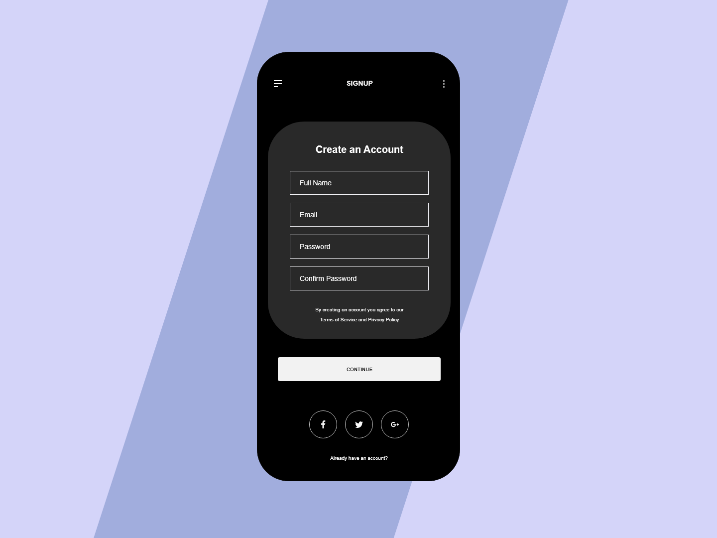Signup Mockup dribbble uidesign ui uiux adobexd phone illustrator mockup signup illustration design