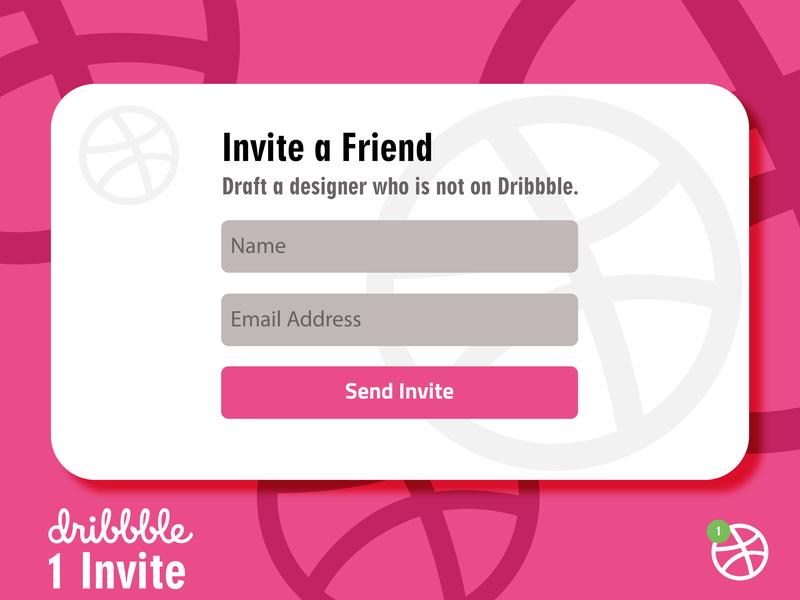 Dribbble Invitation illustrator invitations dribble 1 invite giveaway dribbble invite invitation design dribbble