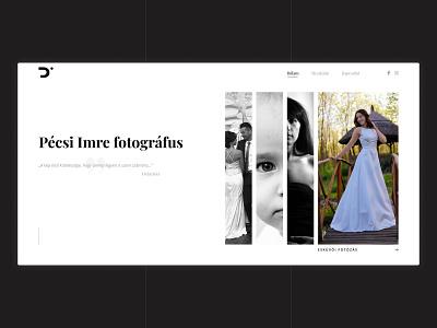 Photographer Portfolio Web Design userinterface uidesign ui photos wedding elegant minimal portoflio webdesigner webdesigns webdesign photography photographer