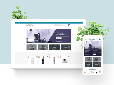 Cosmetic e-commerce webdesign - desktop and mobile view minimalist ladies ecommerce design ecommerce shop ecommerce user interface design user interface webdesigner webdesign uidesign ui  ux uiux ux ui feminine design feminine minimal skincare cosmetic webshop cosmetic