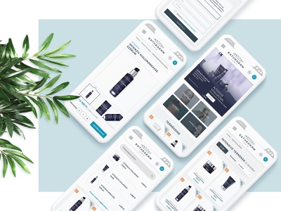 Cosmetic e-commerce webdesign - mobile pages responsive design mobile pages webshop ecommerce shop ecommerce user interface webdesign ux ui  ux uiux ui skincare skin cosmetic webshop cosmetic feminine ladies minimalism minimalist minimal