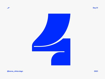 """36 days of type: number """"4"""" graphic design graphic typographic lettering letter display font display typography art typography typeface type numbers number number 4 36 days of type 2021 36 days 36 days of type lettering 36 days of type 36daysoftype 36days"""