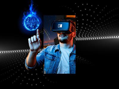 VR/AR company   key visual logo design graphic design vr company tech company game virtual worlds door brand identity brand branding visual identity visual key visual tech gaming augmented reality virtual reality ar vr