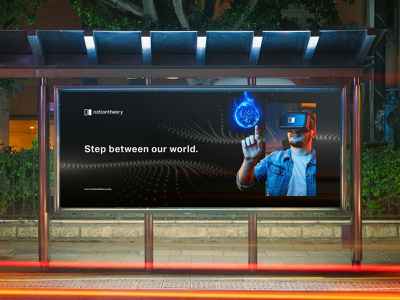 VR/AR company   billboard design design graphic design brand identity brand branding visual identity visual key visual billboard design billboard tech gaming virtual world logodesign logo augmented reality virtual reality ar vr