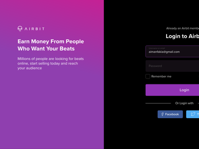 Login - Register Concept mobile web animation prototyping user experience user interface design ux ui
