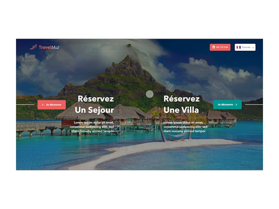 Travel Landing Page animation prototyping user experience user interface design ux ui