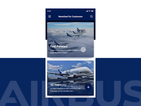 Airbus Newsfeed App prototyping animation user experience user interface design ux ui